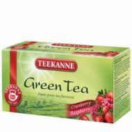 Green tea Cranberry Raspberry tőzegáfonya-málna ízesítésű zöld tea 35 g