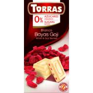 Goji bogyós fehércsokoládé hozáadott cukor nélkül75 g