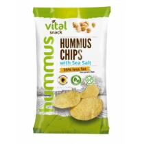 VitalSnack humusz chips tengeri sóval 65g