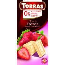Epres fehércsokoládé hozáadott cukor nélkül75 g