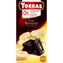Banános étcsokoládé hozáadott cukor nélkül75 g