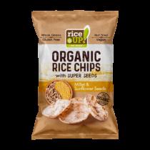 Barna rizs chips Kölessel és Napraforgóval25 g