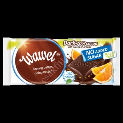 No added Sugar Dark with Orange étcsokoládé Naranccsal100 g