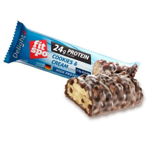 Fitspo Delight protein szelet Cookies&Cream (sütis-tejszínes) 65g