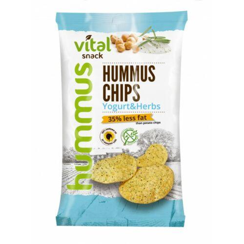 VitalSnack humusz chips joghurtos- és zöldfűszeres ízesítéssel 65g