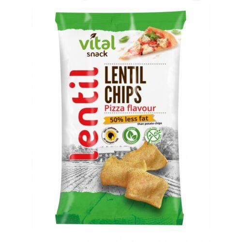 VitalSnack lencse chips pizza ízű 65g
