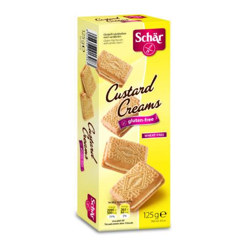 Schär Custard Creams - krémmel töltött keksz  125 g