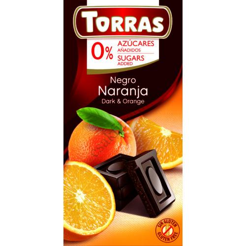 Narancsos étcsokoládé hozáadott cukor nélkül75 g
