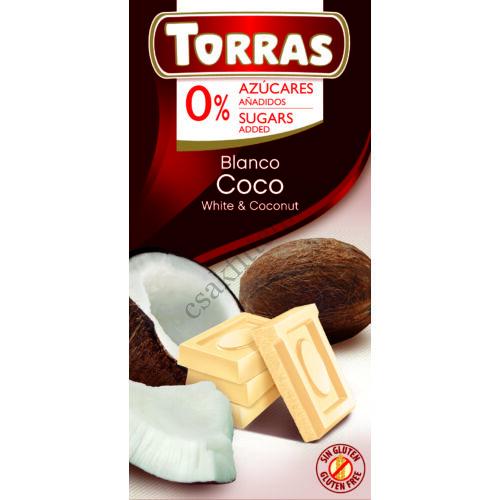 Kókuszos ferhércsokoládé hozáadott cukor nélkül 75 g