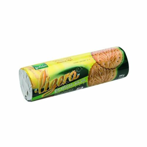 Gullon Ligeria só- és cukormentes keksz200 g