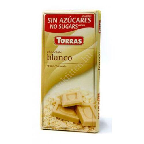 Fehércsokoládé hozáadott cukor nélkül 75 g