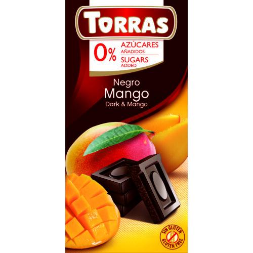 Mangós étcsokoládé hozáadott cukor nélkül75 g