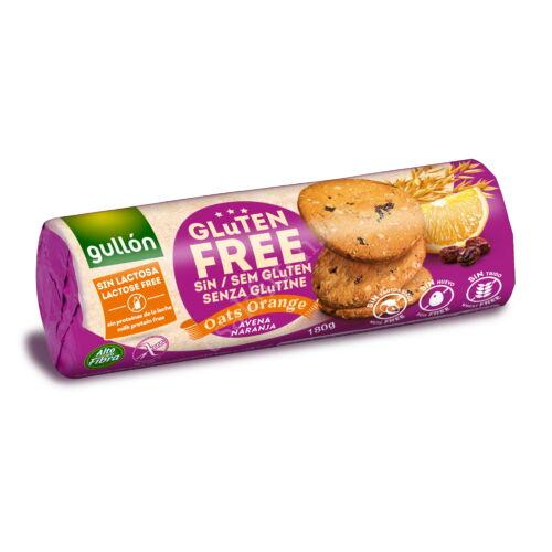 Gullon Gluténmentes keksz zabbal és naranccsal 180 g