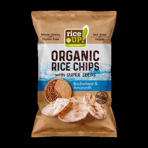 Barna rizs chips Hajdinával és Amaranttal25 g