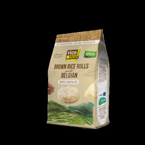 Rice Up Fehércsokoládés barna rizs snack50 g